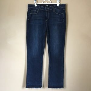 PAIGE Jeans Size 32 Miki Straight Cropped Stretch